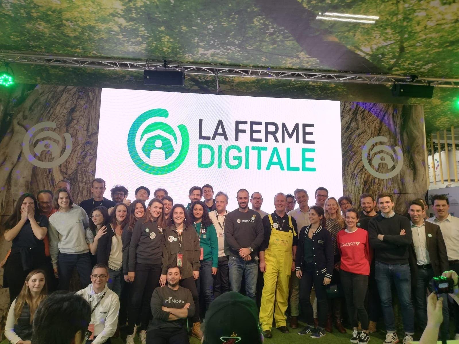 Les membres de La Ferme Digitale au salon de l'agriculture 2020