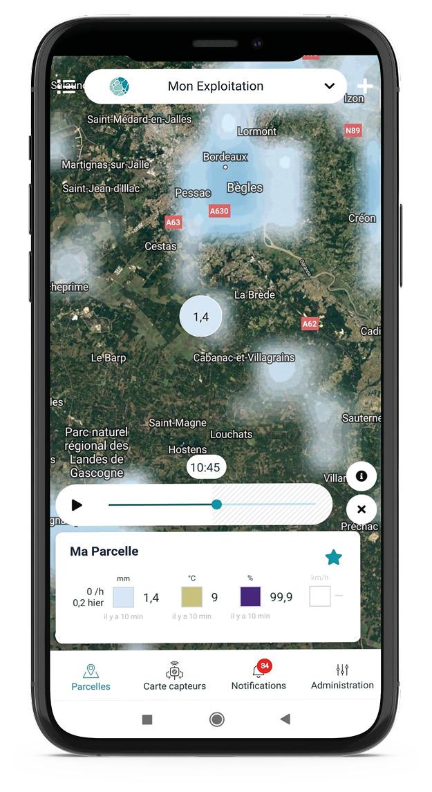 Un radar de pluie gratuit sur l'application Weenat